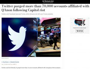 Twitter panaikino virš 70 000 paskyrų.